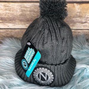 b055e2137cb Ninkasi brewing cable knit ski cap winter hat beer